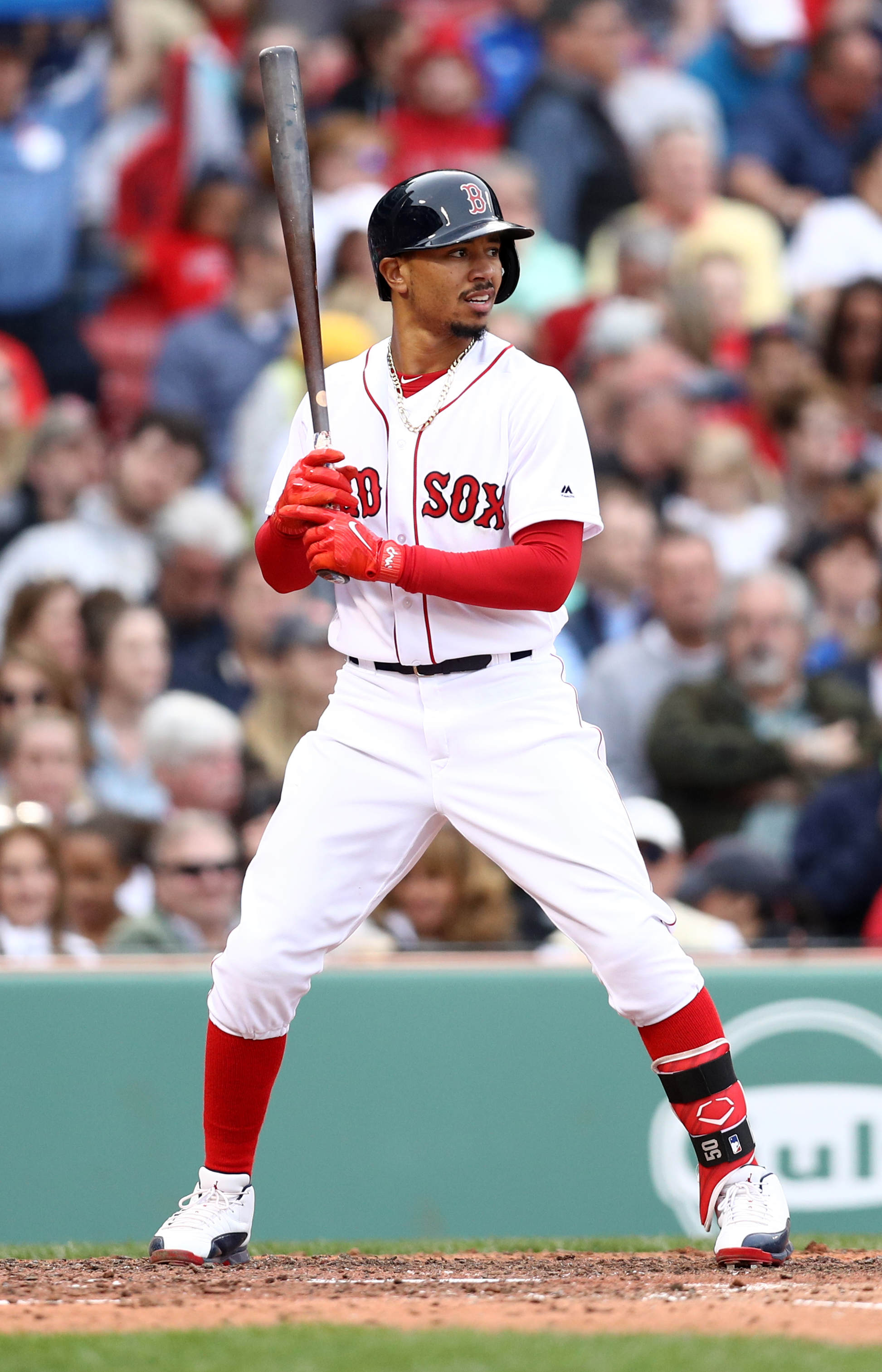 betts mookie sox stance boston plate contract april improves changes getty expectations ma